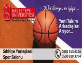 Hacettepe Üniversitesi Gençlik ve Spor Kulübü Yeni Takım Arkadaşları Arıyor!