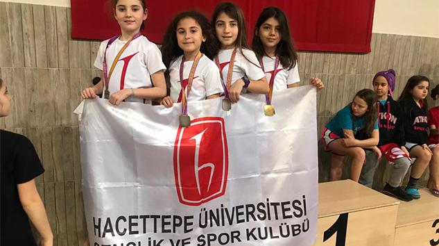 Hacettepe Üniversitesi Gençlik ve Spor Kulübü Yüzme Takımı Madalyaya Doymadı!